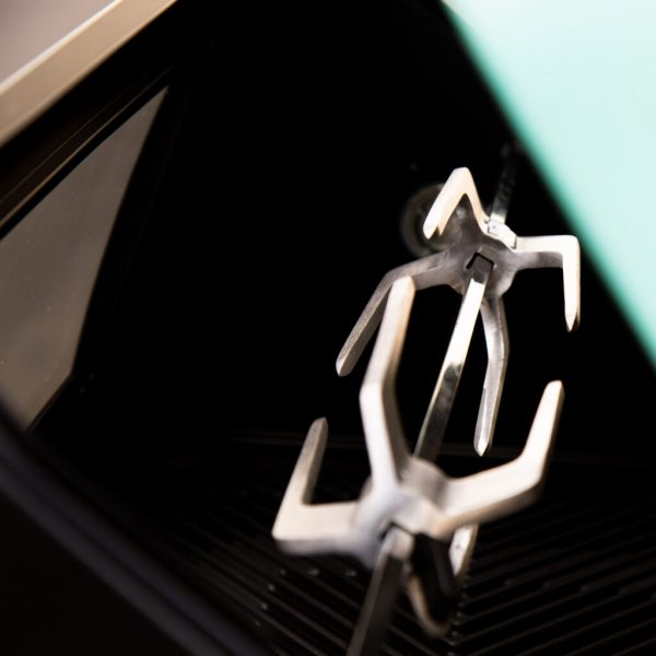 Gas rotisserie kit inside clip lock forks
