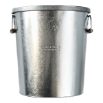 Hot coal bin with lid front on